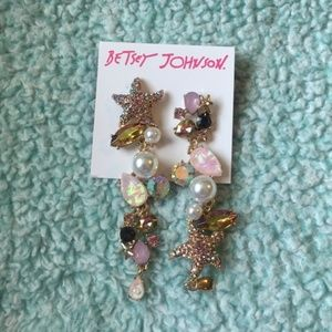 BETSEY JOHNSON CRABBY COUTURE STARFISH Earrings